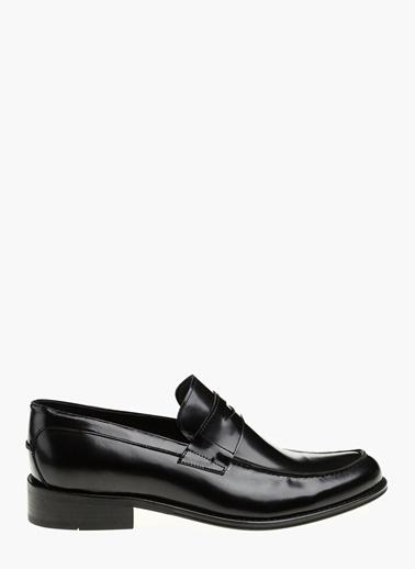 Divarese %100 Deri Loafer Ayakkabı Siyah